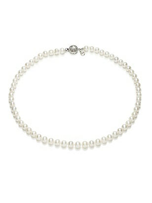 Freshwater Pearl Necklace - 18 inch http://www.dessy.com/accessories/18-inch-pearl-necklace/