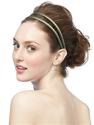 Double Headband in Matte Satin http://www.dessy.com/accessories/matte-satin-headband/