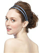 Double Headband in Matte Satin