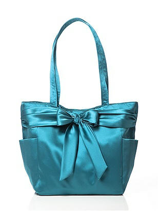 Fashion Tote Bag in Matte Satin http://www.dessy.com/accessories/bridesmaid-tote/