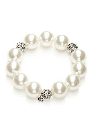 Pearl and Rhinestone Bracelet http://www.dessy.com/accessories/pearl-and-rhinestone-bracelet/