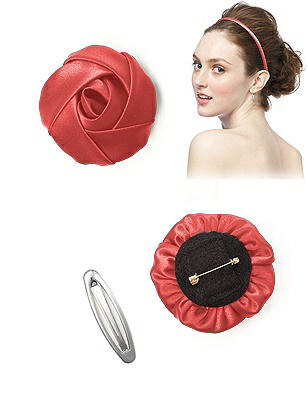 Matte Satin Flower http://www.dessy.com/accessories/matte-satin-flower/