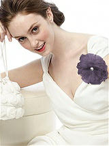 Tulle Flower with Rhinestone Detail