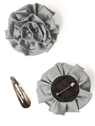 Peau de Soie Swirl Flower http://www.dessy.com/accessories/peau-de-soie-swirl-flower/