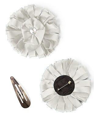 Peau de Soie Confetti Flower with Rhinestone Detail http://www.dessy.com/accessories/peau-de-soie-confetti-flower-with-rhinestone-detail/