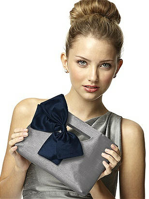 Dupioni Clutch with Interchangeable Bow http://www.dessy.com/accessories/dupioni-clutch-with-bow/