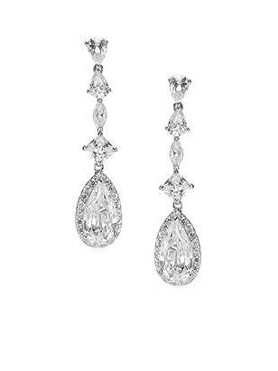 Teardrop CZ Drop Earrings http://www.dessy.com/accessories/teardrop-cz-drop-earrings/
