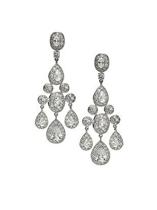 CZ Empire Chandelier Earrings http://www.dessy.com/accessories/cz-empire-chandelier-earrings/