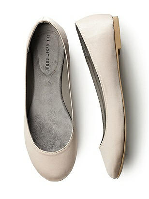 Simple Satin Ballet Flat http://www.dessy.com/accessories/simple-satin-ballet-flat/