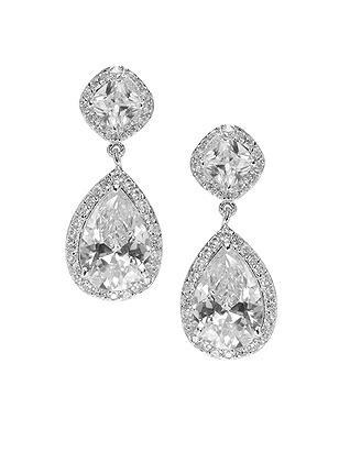 CZ Petite Drop Earrings http://www.dessy.com/accessories/cz-petite-drop-earrings/