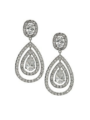 CZ Nested Drop Earrings http://www.dessy.com/accessories/cz-nested-drop-earrings/
