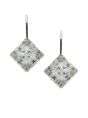 Faceted Princess Cut CZ Drop Earrings http://www.dessy.com/accessories/faceted-princess-cut-earrings/