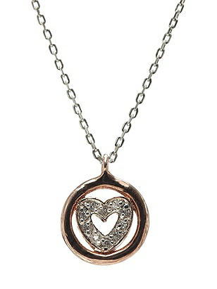 CZ Heart Charm Necklace http://www.dessy.com/accessories/cz-heart-charm-necklace/