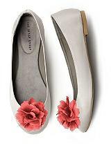 Crinkle Chiffon Flower Shoe Clip