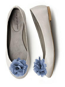 Crinkle Chiffon Flower Shoe Clip