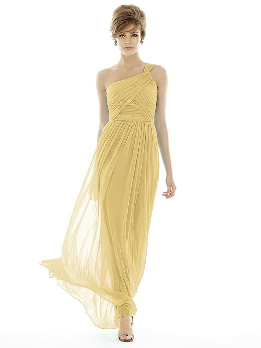 light yellow bridesmaid dress