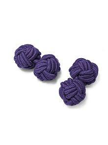 After Six Men's Fabric Knot Cufflinks