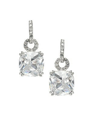 Cushion Cut CZ Drop Earrings http://www.dessy.com/accessories/princess-cut-cz-drop-earrings-/
