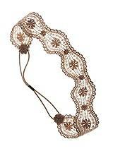 Bronze Nude Lace Stretch Headband